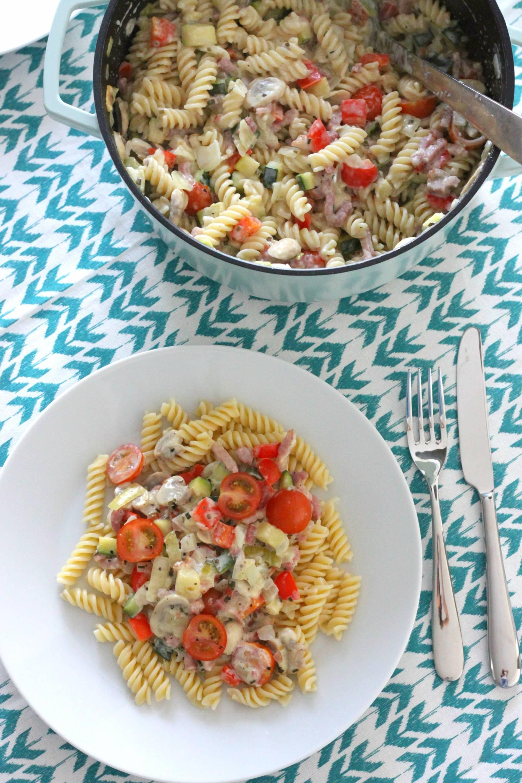 pasta-groenten