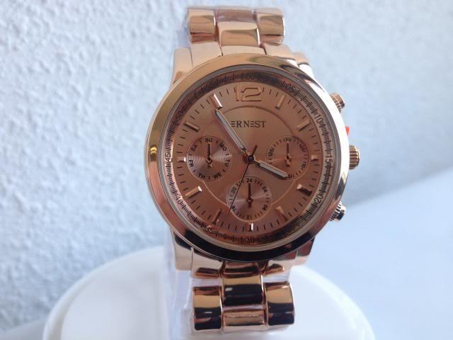 WINNEN! Rosé gouden horloge van Ernest GESLOTEN Teddlicious